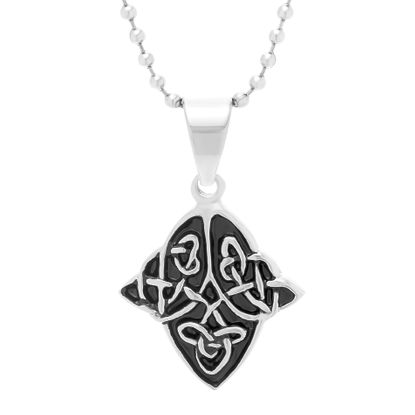 Picture of Black-Tone Stainless Steel Enamel Shield Pendant