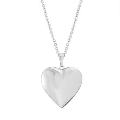Imagen de Silver-Tone Stainless Steel Heart Locket Pendant