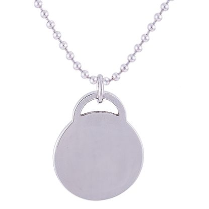 Picture of Silver-Tone Stainless Steel 1 High Polished Round Lock Pendant