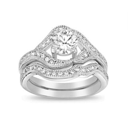 Picture of 4.25 TCW Cubic Zirconia Engagement Ring Set