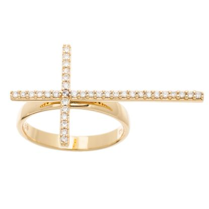 Picture of Cubic Zirconia Cross Ring Size 7