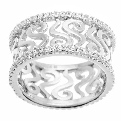 Imagen de Cubic Zirconia Curved X Eternity Ring