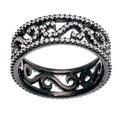 Imagen de Black Ion S Cubic Zirconia Ring