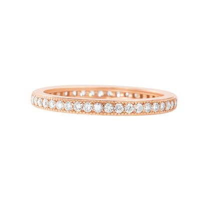 Picture of Sterling Silver Cubic Zirconia Eternity Band Ring Size 6