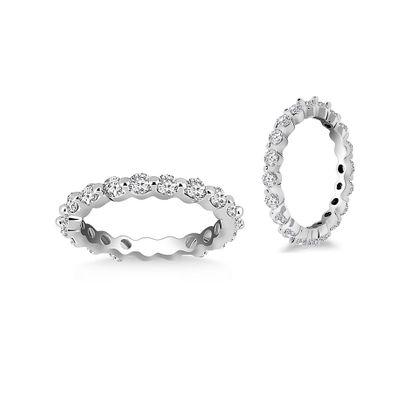 Imagen de Cubic Zirconia Eternity Ring in Sterling Silver