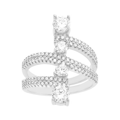 Picture of 4-Stone Cubic Zirconia Ring in Sterling Silver