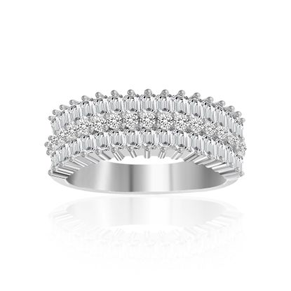 Imagen de Cubic Zirconia Band Ring in Sterling Silver