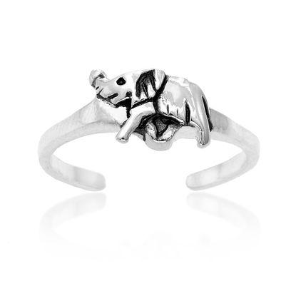Imagen de Sterling Silver Elephant Toe Ring Size 5