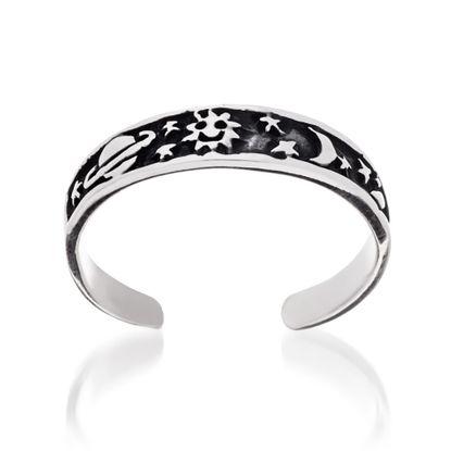 Imagen de Sterling Silver Plain Universe Toe Ring