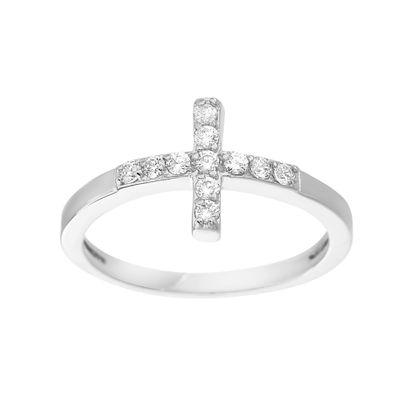 Imagen de Cubic Zirconia Cross Ring