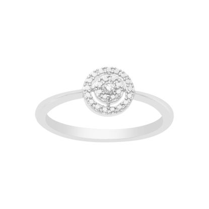 Picture of BRASS RHODIUM DIAMOND ACCENT OPEN CIRCLE RING