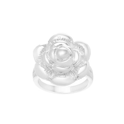 Imagen de Silver-Tone Stainless Steel Polished Rose Ring