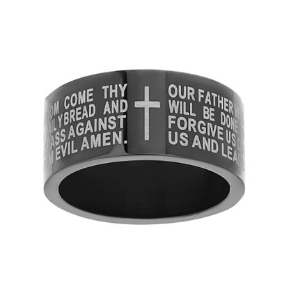 Imagen de Two-Tone Stainless Steel Men's Prayer Ring Size 9