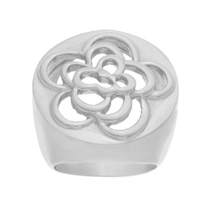 Imagen de Filigree Flower Ring in Stainless Steel
