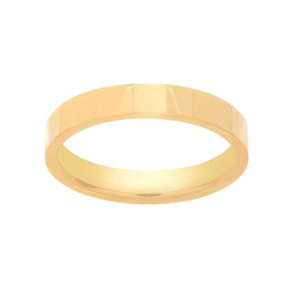 Imagen de Gold-Tone Stainless Steel Band Ring Size 10