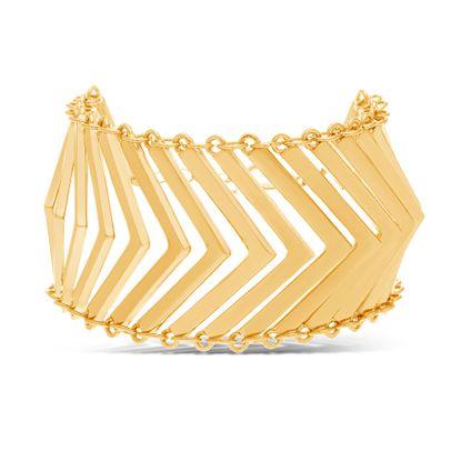 Imagen de Steve Madden Gold-Tone Multi V Shape Bars Bracelet