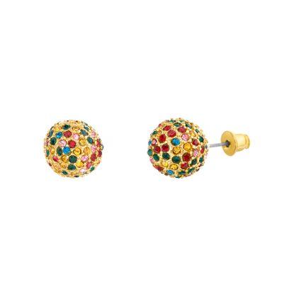 Imagen de Steve Madden Multi-Colored Ball Stud Earring in Gold Plated