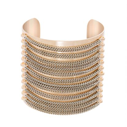 Imagen de Cable Chain Design Open Cuff Bangle