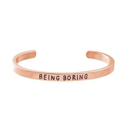 Imagen de Steve Madden Rose Gold Tone Being Boring Bangle Bracelet for Women