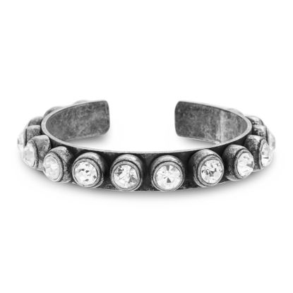 Imagen de Steve Madden Women's Stud Design Cuff Bangle Bracelet Gunmetal-Tone One Size