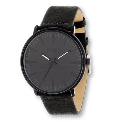 Imagen de Steve Madden Black Analog Leather Men's Watch