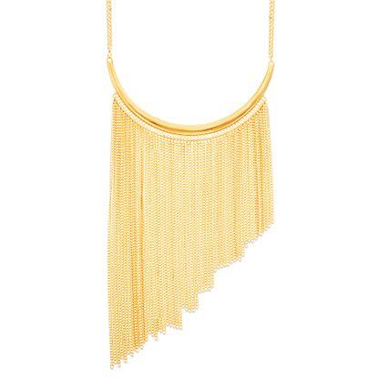 Imagen de Steve Madden Gold-Tone Asymmetrical Chain Fringe Necklace