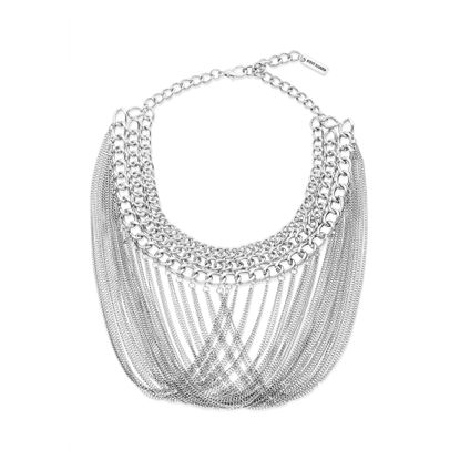 Imagen de Steve Madden Interlocking Fringe Bib Necklace