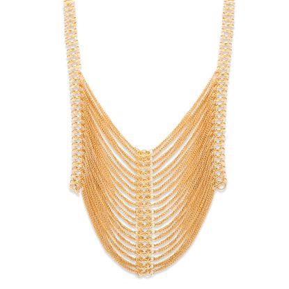 Imagen de Steve Madden Gold-Tone Multi-Tiered Cable Chain 22 Tubetto Chain  Necklace
