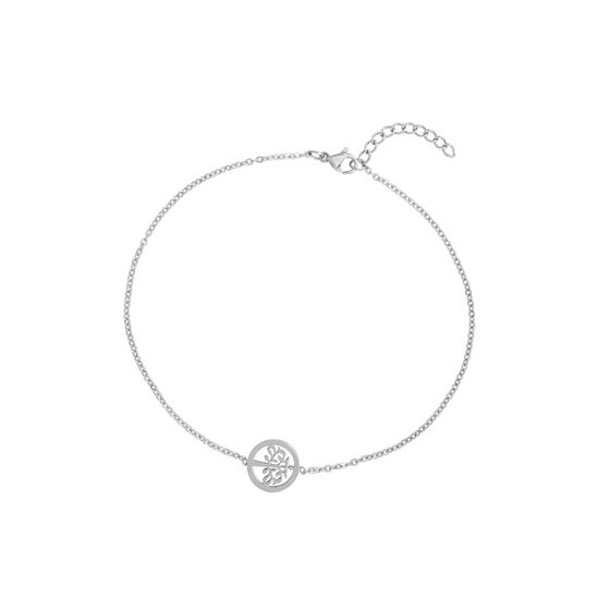 Imagen de Silver-Tone Stainless Steel Tree of Life Station Cable Chain Anklet