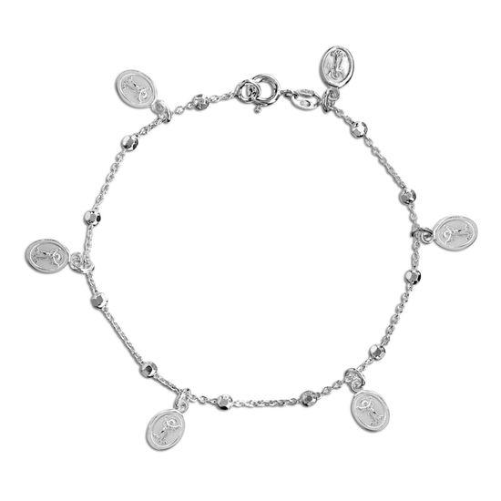 Imagen de Diamond Cut Milagrosa Charm Bracelet in Sterling Silver