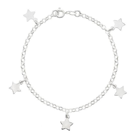 Imagen de Sterling Silver Star Charm Rolo Bracelet