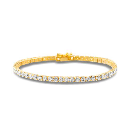 Imagen de Brass Cubic Zirconia Tennis Bracelet
