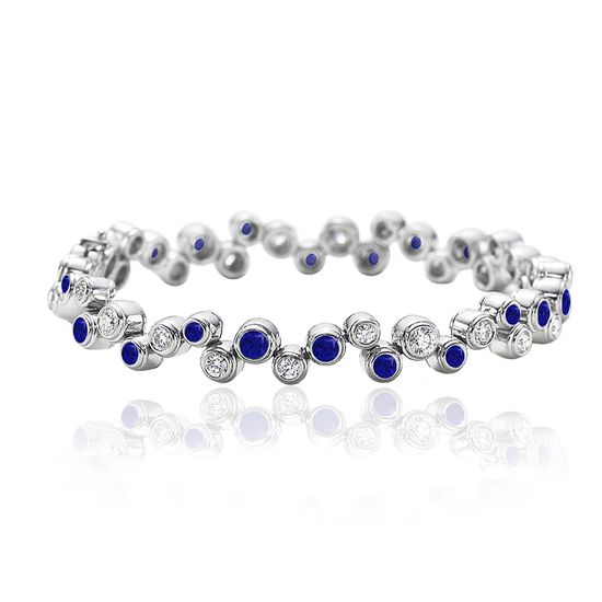 Picture of Silver-Tone Brass Clear/SPPR Cubic Zirconia Stations Bracelet