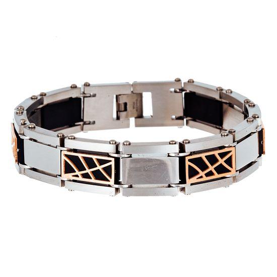 Imagen de Two-Tone Stainless Steel Squared Link Bracelet
