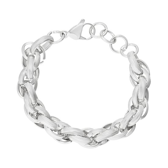 Picture of Twisted Rolo Link Bracelet in Stainless Steel