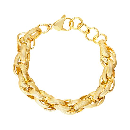 Picture of Twisted Rolo Link Bracelet in Gold IP Stainless Steel