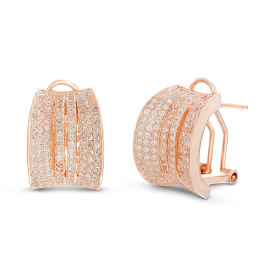 Imagen de Sterling Silver Cubic Zirconia Multi Strand Poste Clip Earring