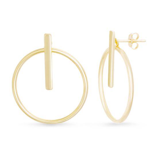 Imagen de Circle Bar Stud Earring in Sterling Silver