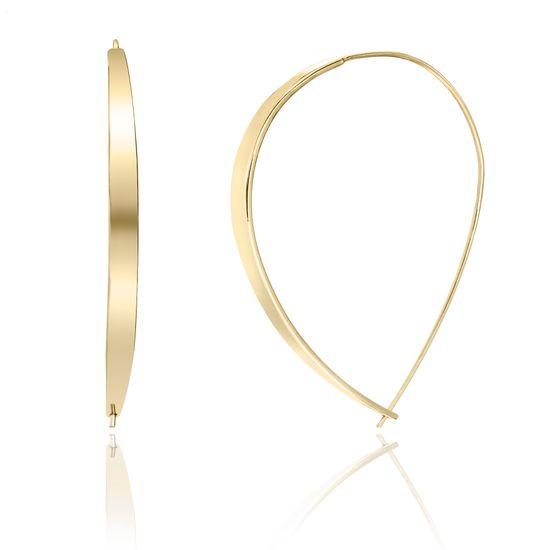 Imagen de Gold-Tone Brass Polished Bar Threader Earring