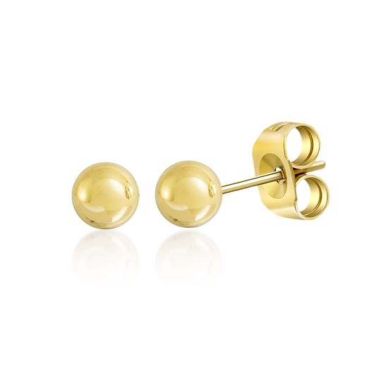 Picture of Polished Ball Stud Earring in Gold over Brass