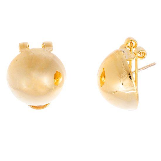 Imagen de Gold-Tone Stainless Steel Polished 16mm Half Ball Earrings