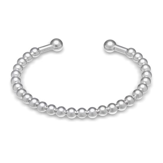 Picture of Polished Ball 5.25 Baby Bangle in Sterling Silver
