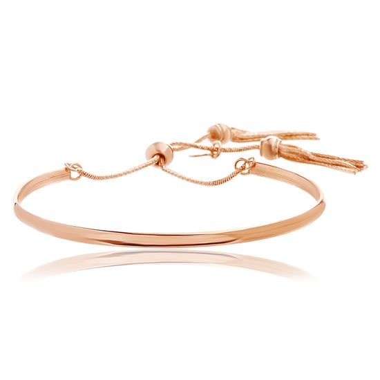Imagen de Sterling Steel Gold Tassel Slider Bangle