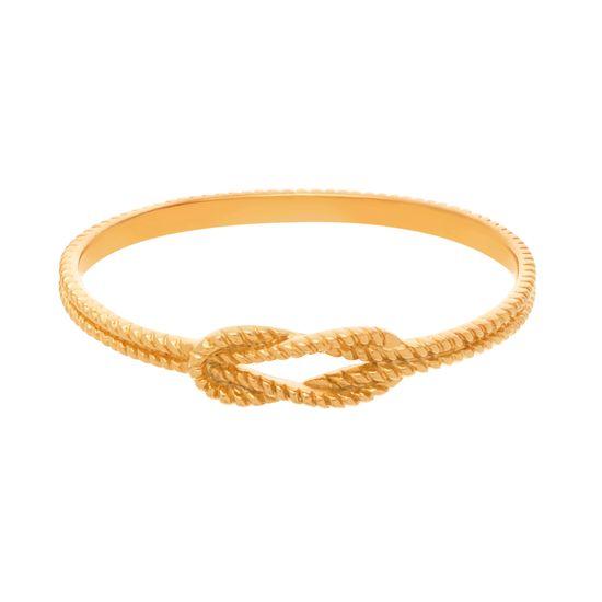 Imagen de Gold-Tone Stainless Steel Center Knot Loop Bangle