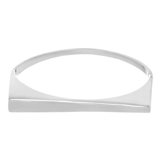Imagen de Silver-Tone Stainless Steel Polished Graduated Bar Bracelet