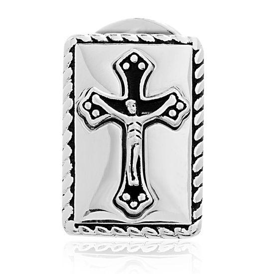 Imagen de Brass Cross Rectangle New Testament Nano My Bible Pin