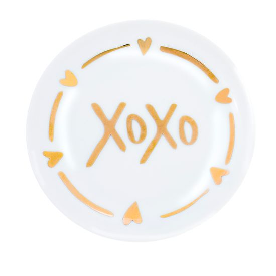 Imagen de Light Green XOXO Heart Design Trinket Tray