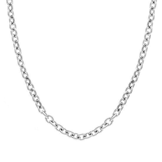 Imagen de Sterling Silver Gauge Cable Chain 24 Necklace