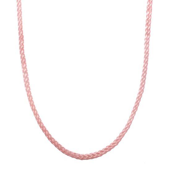 Imagen de High Polished Sterling Silver Plain Silk Chain Necklace