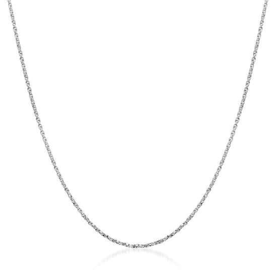 Imagen de Sterling Silver Box Chain Twisted 18 Necklace